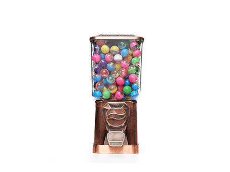 Fully Automatic Gumball Vending Machine , Bronze Color Small Gumball Machine