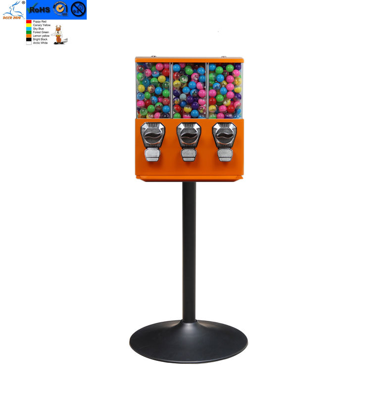 1 - 1.4 Inches Large Capacity coin operated candy dispenser vending machine for kids