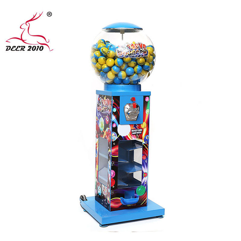 Large Capacity Metal Gumball Machine 40*40*116CM Long Working Life