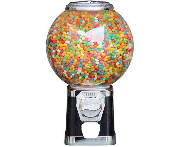 Kids Black Gumball Machine , coin operated candy / toys dispenser