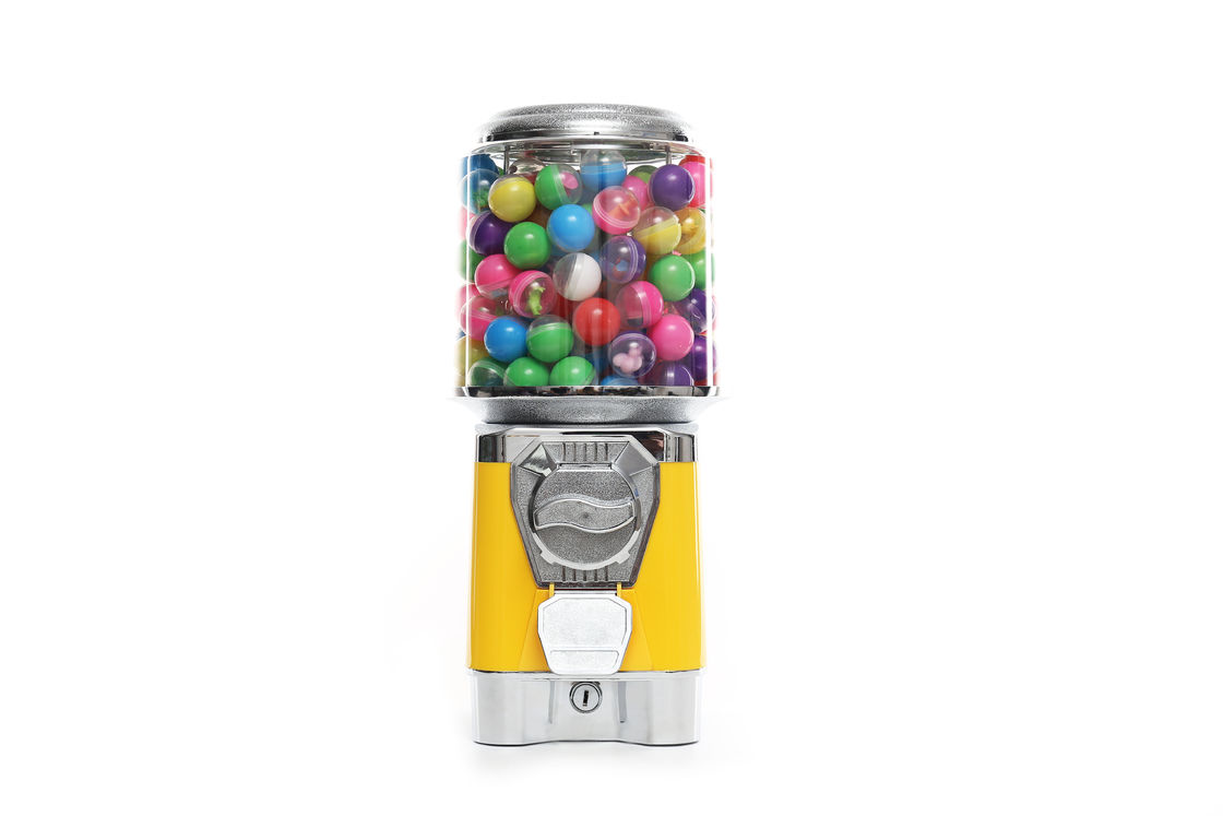 1-6 Coins Candy Gumball Vending Machine Durable ABS 3.5mm Thick Body