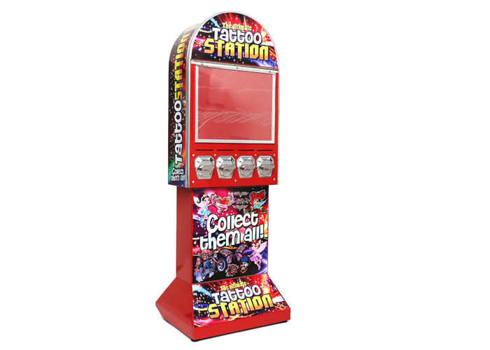 1-6 Pieces Coins Sticker Tattoo Vending Machine For Kids Entertainment
